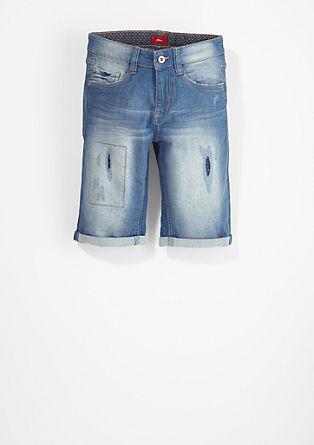 Seattle Slim: bermuda hlače v obrabljenem videzu