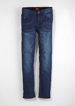 Seattle Slim: modre jeans hlače z intenzivnim odtenkom