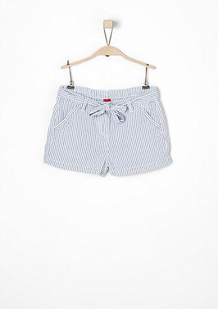 Seersucker-Shorts mit Streifen