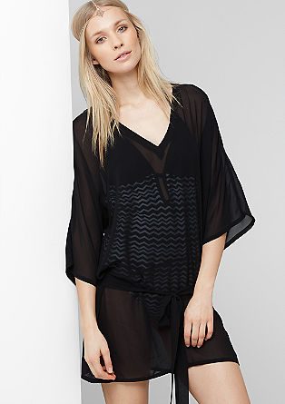 Semi-sheer beach tunic from s.Oliver