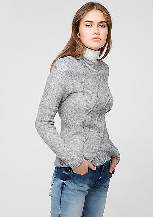 Semi-sheer cable knit jumper from s.Oliver