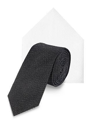 Set bestaande uit een zijden stropdas en pochet