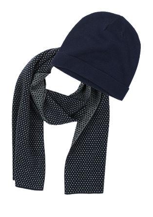 Set Schal und Mütze aus Woll-Mix