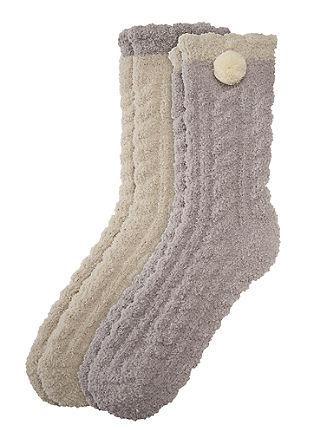 Set van 2 paar zachte sokken