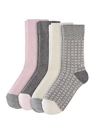 Set van 4 paar gekleurde sokken