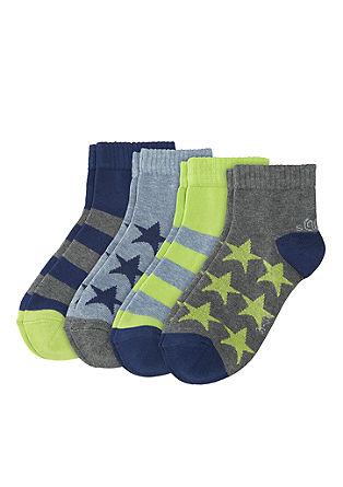 Set van 4 paar korte sokken