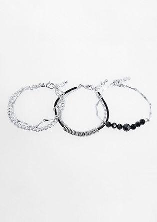 Set van drie armbanden