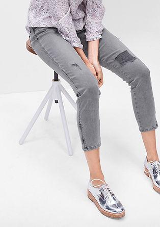 Shape Ankle: Jeans hlače obrabljenega videza