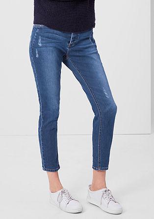 Shape Ankle: jeans met slijtageplekken
