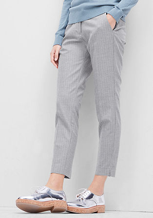 Shape Ankle: pinstripe trousers from s.Oliver