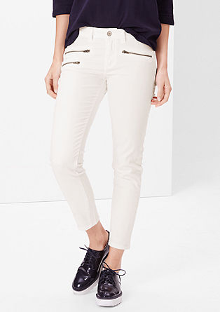 Shape Ankle: stretch trousers with zips from s.Oliver