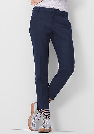 Shape Ankle: trousers in a wool look from s.Oliver