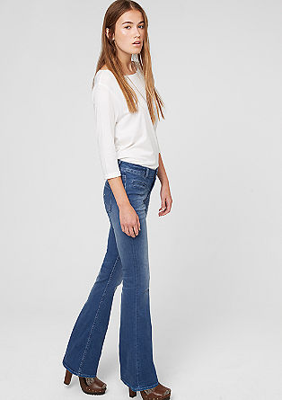 Shape Bellbottom: Stretch-Jeans