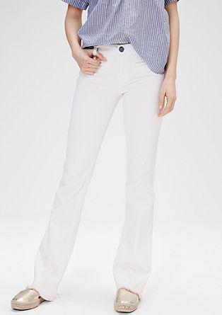 Shape Bootcut: Ausgefranste Jeans