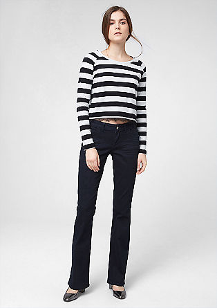Shape Bootcut: Dunkelblaue Jeans