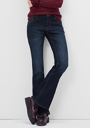 Shape Bootcut: Dunkle Jeans