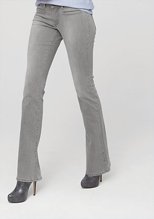 Shape Bootcut: grey flared jeans from s.Oliver