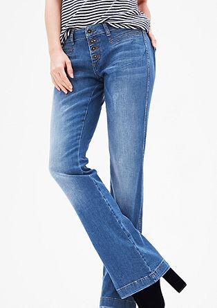 Shape bootcut: jeans met knoopsluiting