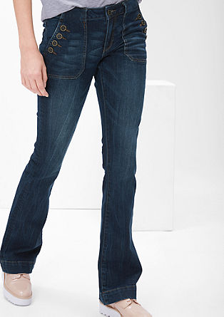 Shape Bootcut: jeans with buttons from s.Oliver