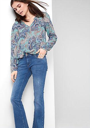 Shape Bootcut: jeans z raztrganinami