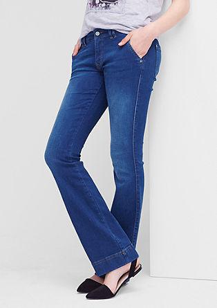 Shape Bootcut: Modre jeans hlače v intenzivnem odtenku