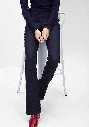 Shape Bootcut: tmavé strečové džíny