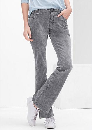 Shape Bootcut: Žametne hlače