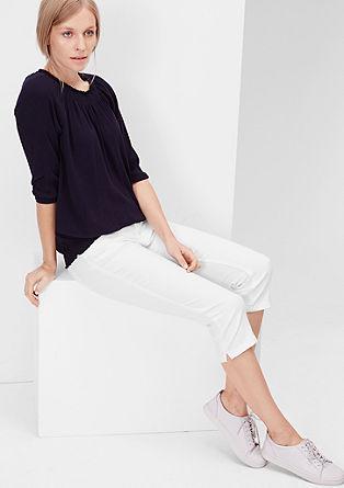 Shape capri: Coloured jeans