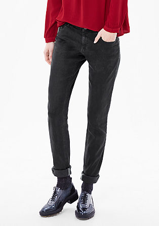 Shape Skinny: coated jeans from s.Oliver