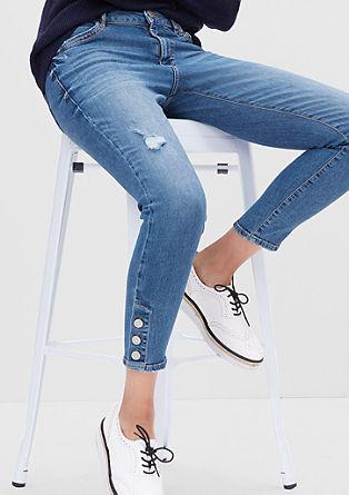 Shape Skinny: Denim im Used-Look