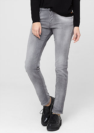 Shape Skinny: Graue Stretch-Jeans