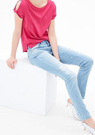 Shape Skinny: Helle Used-Jeans