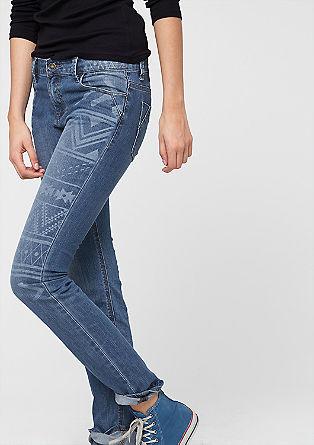 Shape skinny: jeans met een motief