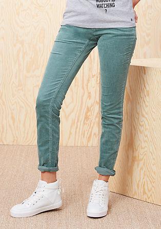 Shape Skinny: raztegljive hlače iz rebrastega žameta