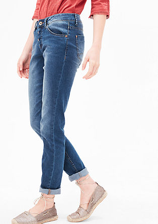 Shape Slim: blue jeans with buttons from s.Oliver