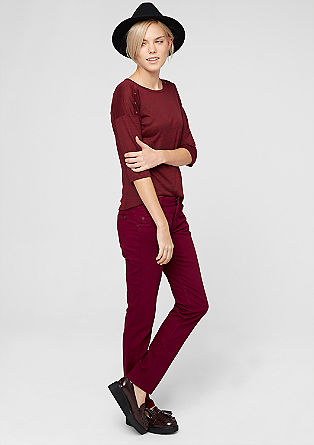 Shape slim: coloured stretchjeans