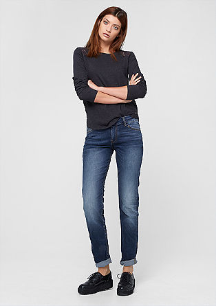 Shape Slim: Dunkle Stretch-Jeans