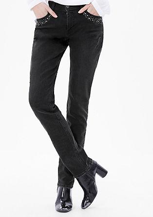 Shape slim: jeans met studs