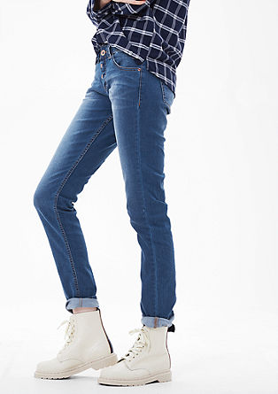 Shape Slim: jeans with a button placket from s.Oliver