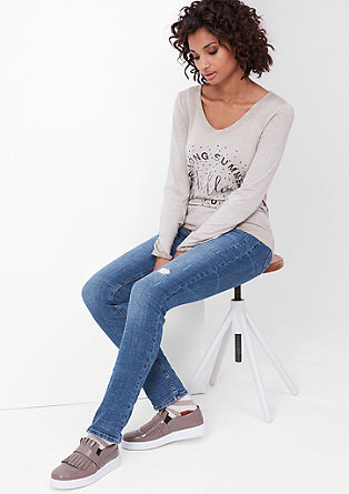 Shape Slim: jeans with a crinkled effect from s.Oliver