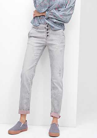 Shape Slim: Jeans with colour accents from s.Oliver