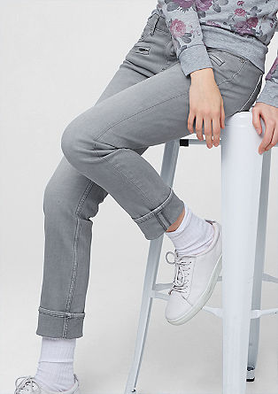 Shape Slim: jeans with zips from s.Oliver