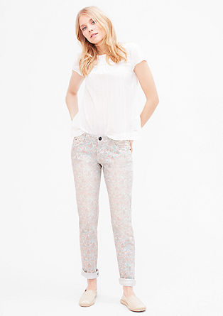 Shape Slim: Musterprint-Jeans