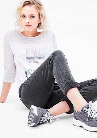 Shape Slim: šedé strečové džíny