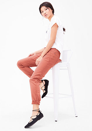 Shape Slim: stretch twill trousers from s.Oliver