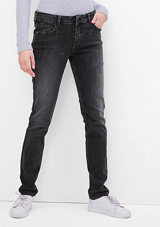 Shape Slim: Stretchige Used-Jeans