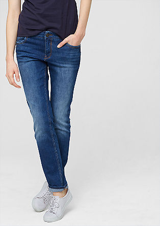 Shape slim: stretchy blue jeans