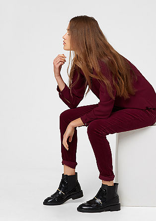 Shape Super Skinny: corduroy trousers from s.Oliver