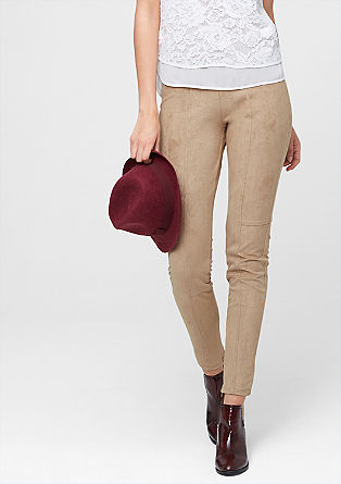 Shape Super Skinny: Imitation leather trousers from s.Oliver