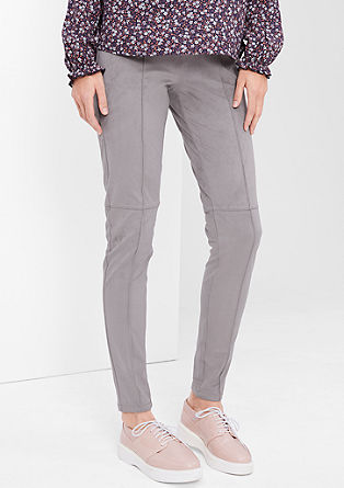 Shape Super Skinny: Suede trousers from s.Oliver